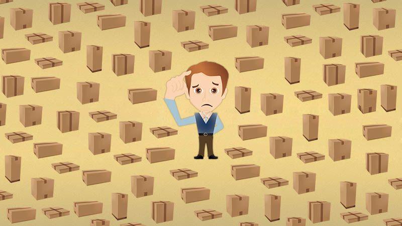 Fiscal aduaneiro fiscalizando centenas de caixas diariamente - amostragem na alfândega