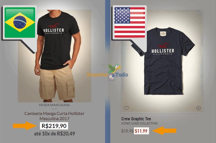 eb267a677db Vale a pena importar Hollister dos Estados Unidos ou comprar no Brasil