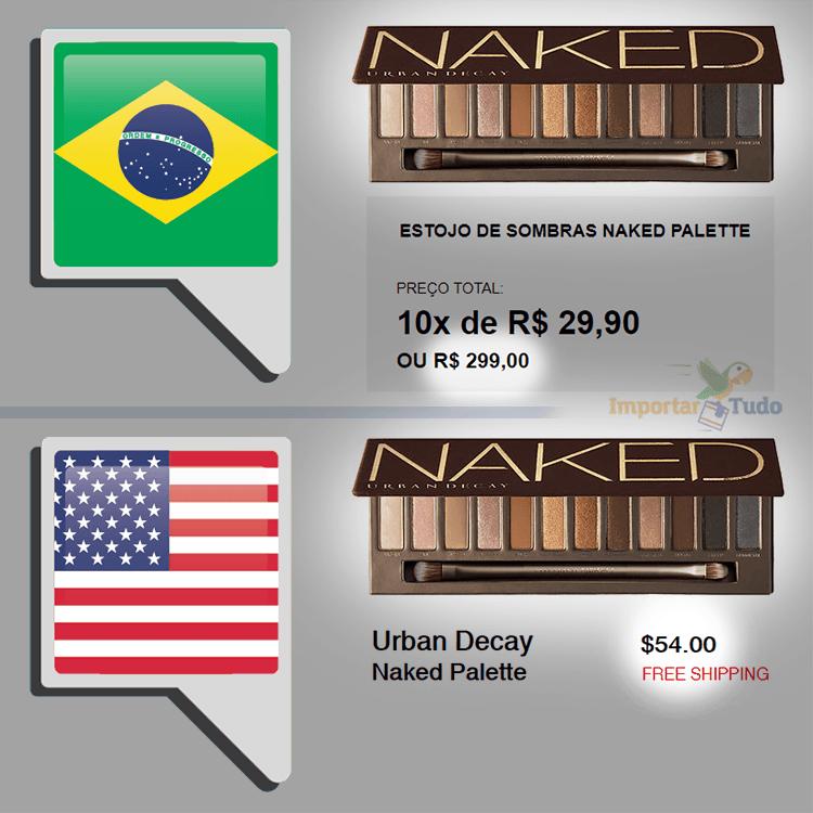 46f1aed62d2 Paleta de maquiagem Naked Urban Decay importada mais barata do que na loja  brasileira