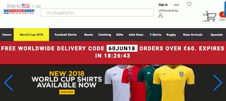 Uk soccer shop camisas Copa do mundo 2018