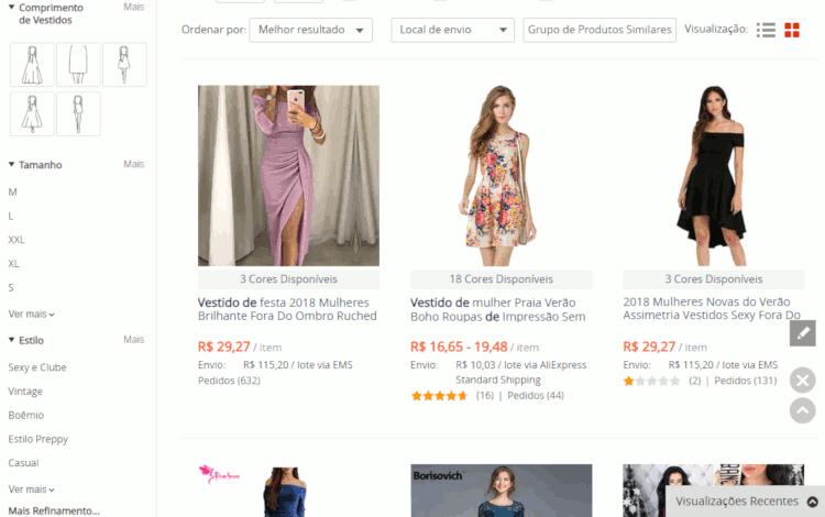 Como importar vestidos da china no aliexpress sem errar o tamanho passo a passo (11)