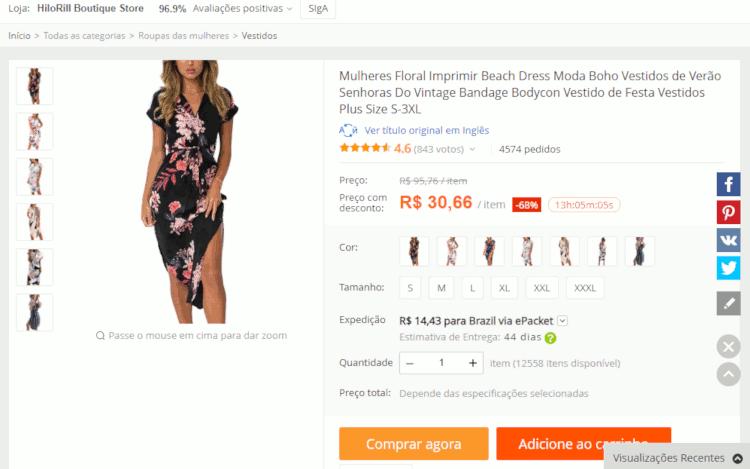 Como importar vestidos da china no aliexpress sem errar o tamanho passo a passo (13)