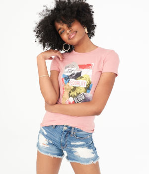 camiseta estampada aeropostale usa