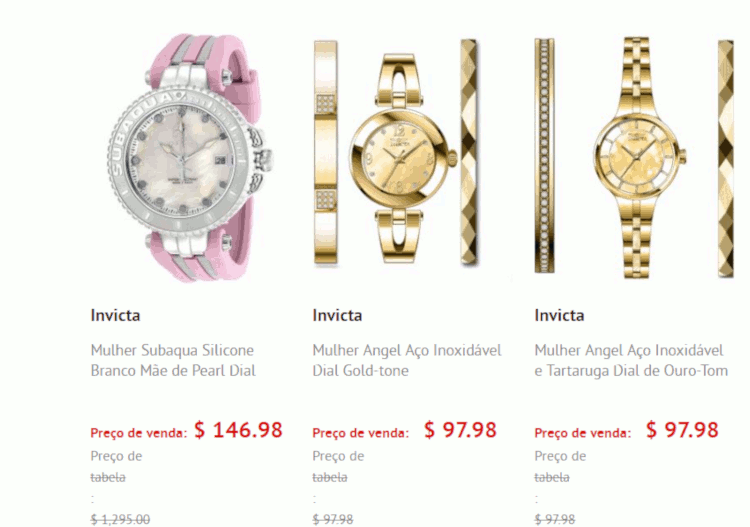 04 relogios femininos invicta na world of watches
