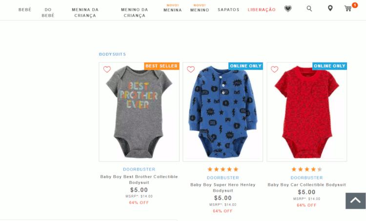 body para bebê barato - importados dos estados unidos