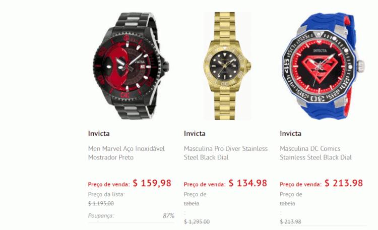 05 onde comprar relogio invicta barato world of watches fornecedor