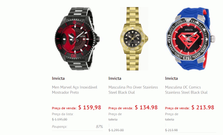 05 onde comprar relogio invicta barato world of watches fornecedor