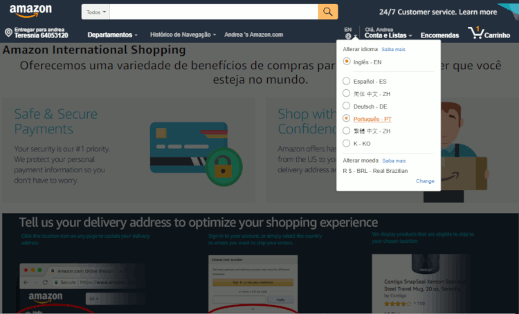 07 importando smartphone da amazon em portugues