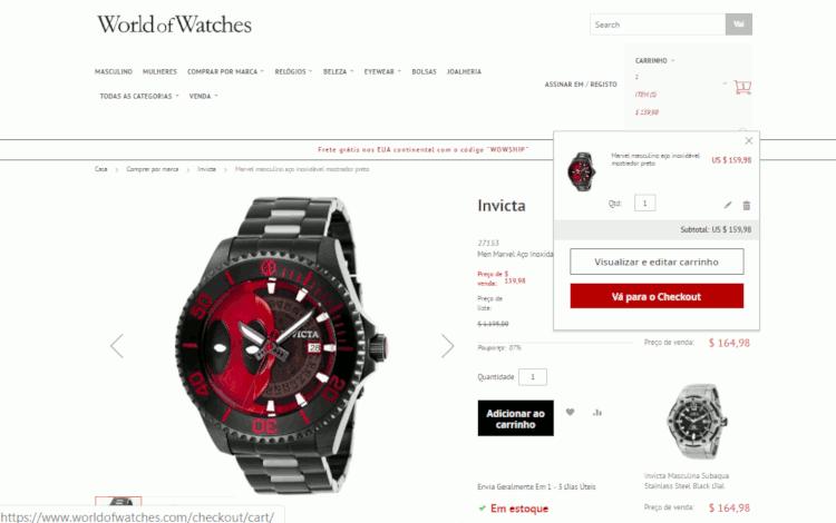 07 world of watches relogio invicta