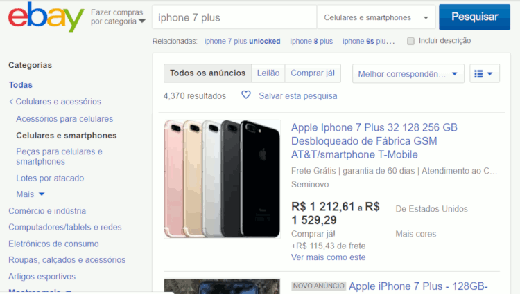 08 importando smartphone do ebay