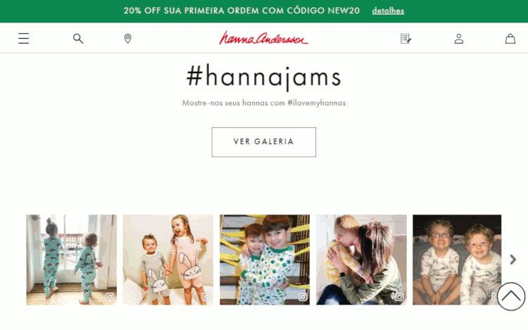 hanna anderson site para comprar produtos infantis baratos nos EUA e revender no brasil