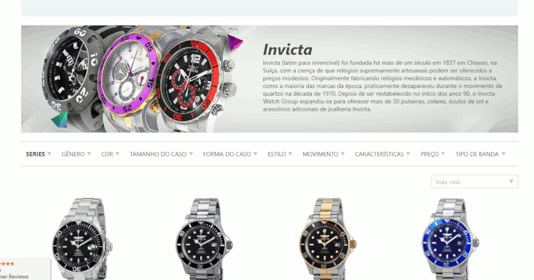 11 catalogo invicta na jomashop