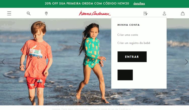 como fazer compras no site hanna anderson usa
