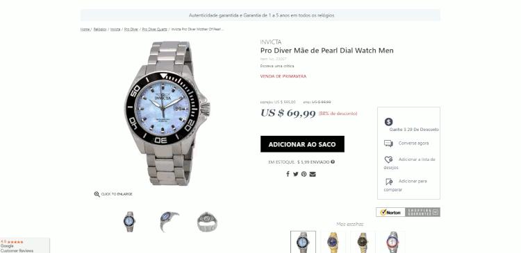 15 relogios invicta amazon jomashop world of watches