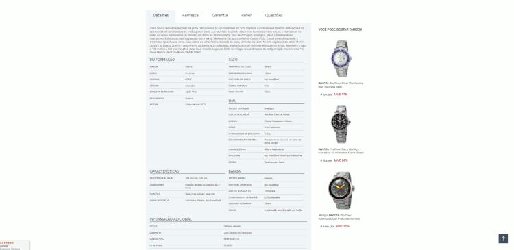 16 detalhes dos relógios invicta na jomashop