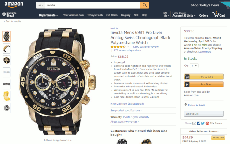 25 como comprar relogio invicta na amazon